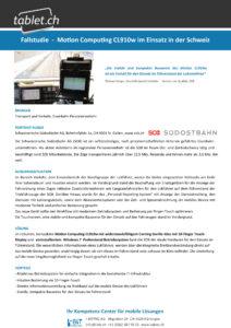 i-bit.ch SOB Schweizerische Südostbahn Fallstudie tablet.ch Motion CL